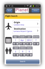 TDS Mobile App - Flight Search